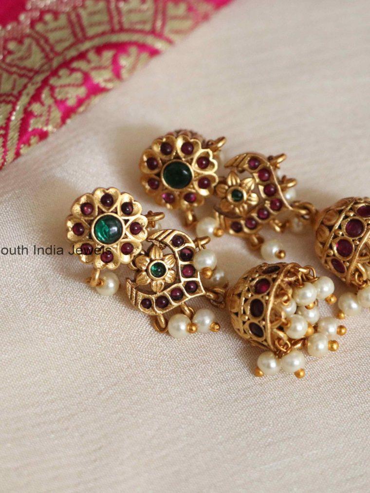 Beautiful Pearl Cluster Jhumkas