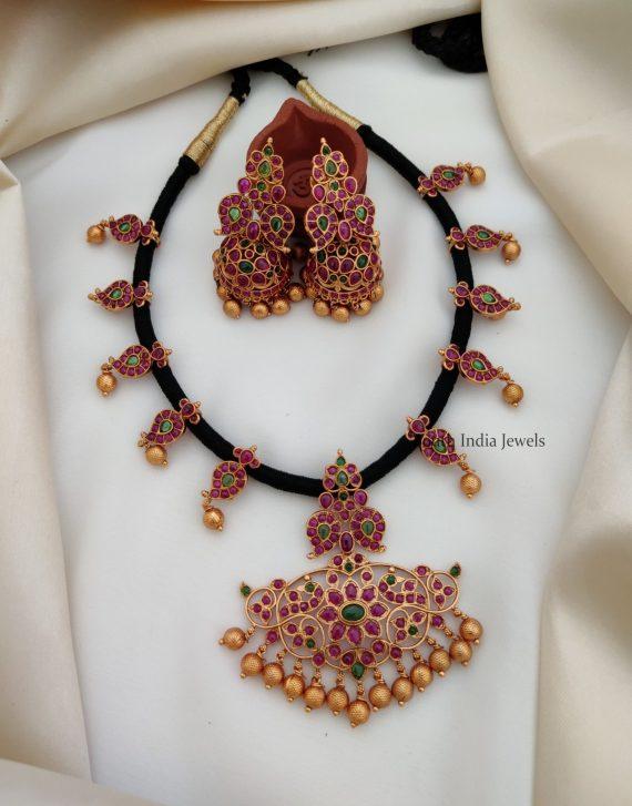 Beautiful Real Kemp Thread Necklace (2)