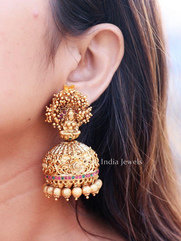 Bridal Lakshmi Design Jhumkas