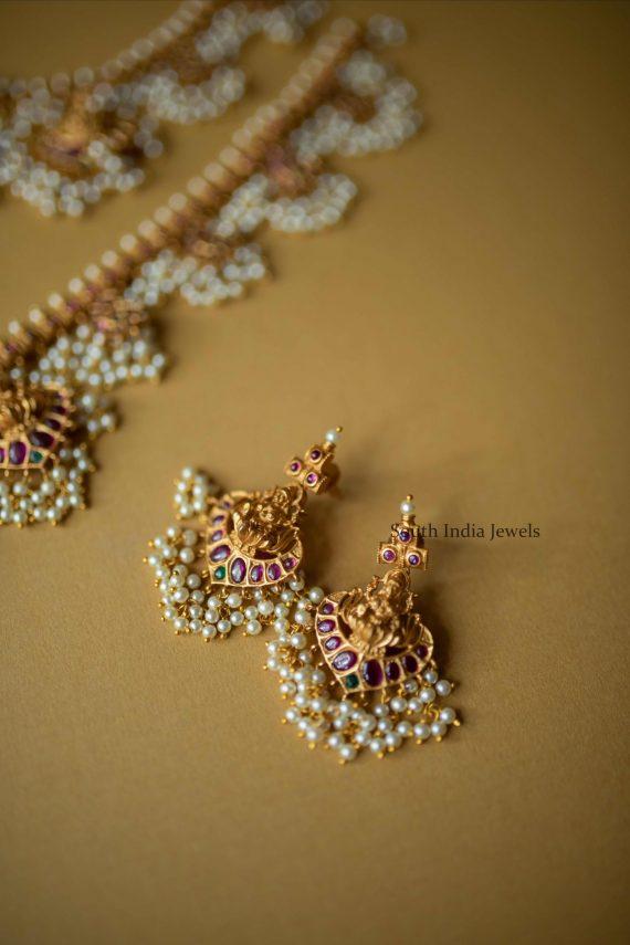 Bridal Lakshmi Guttapusalu Necklace and Haram (3)