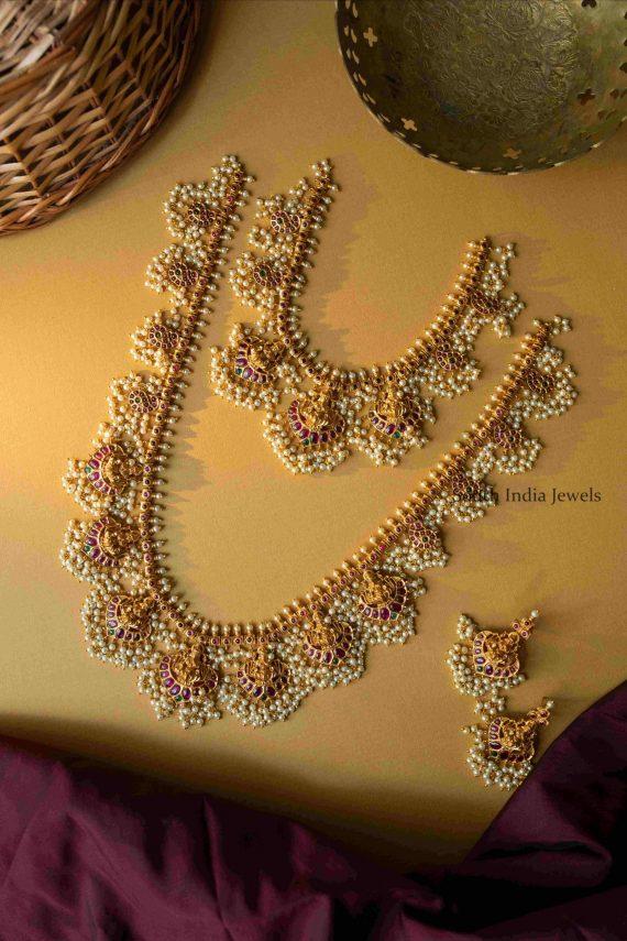 Bridal Lakshmi Guttapusalu Necklace and Haram