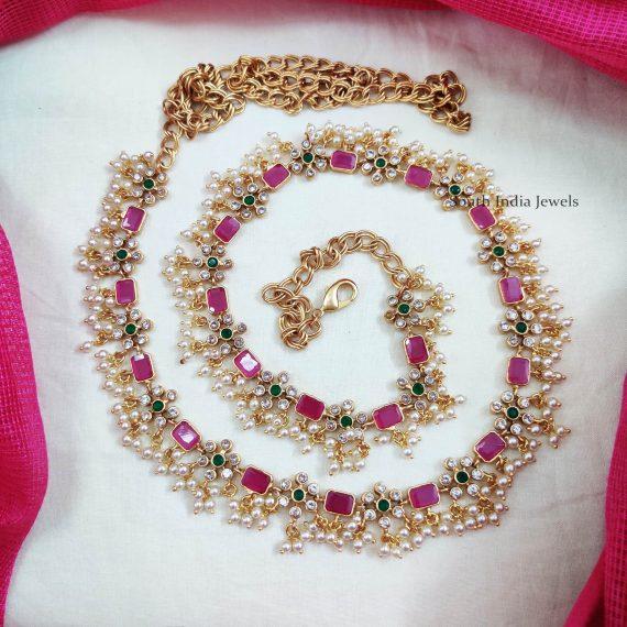 Bridal Pearl Beads Hip Belt