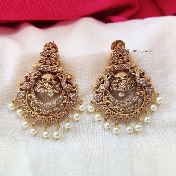 Elegant Chandbali AD Earrings