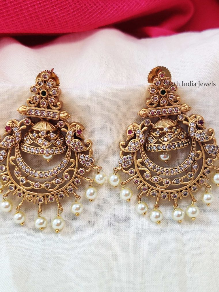 Elegant Chandbali AD Earrings