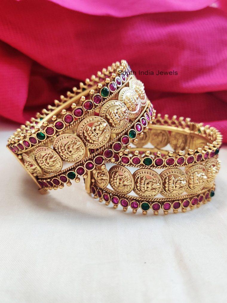 Elegant Lakshmi Coin Bangles