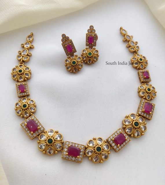 Exquisite Ruby Stone Necklace (3)