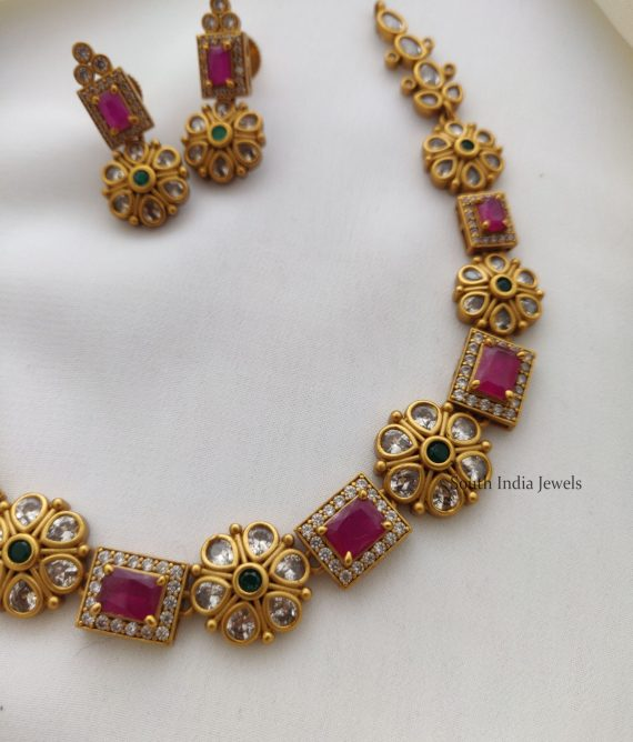 Exquisite Ruby Stone Necklace