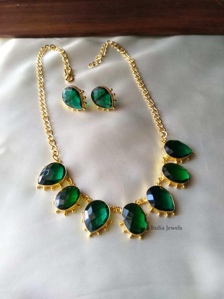 Fancy Green Stone Necklace