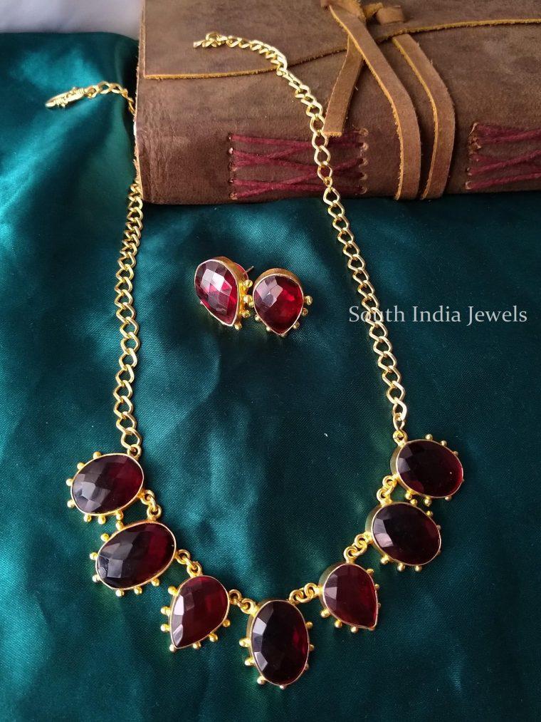 Fancy Stone Adjustable Necklace