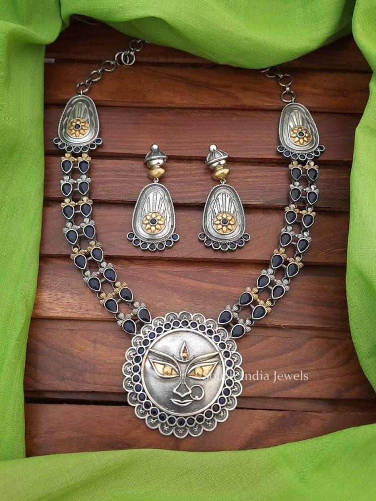 German Silver Devi Necklace