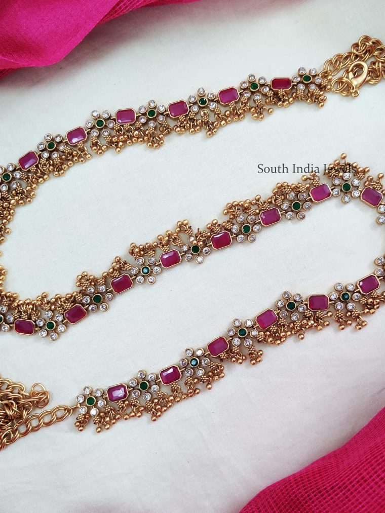 Gorgeous Gold Beads Bridal Hip Belts