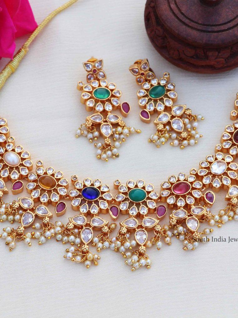 Gorgeous Navarathna Antique Necklace