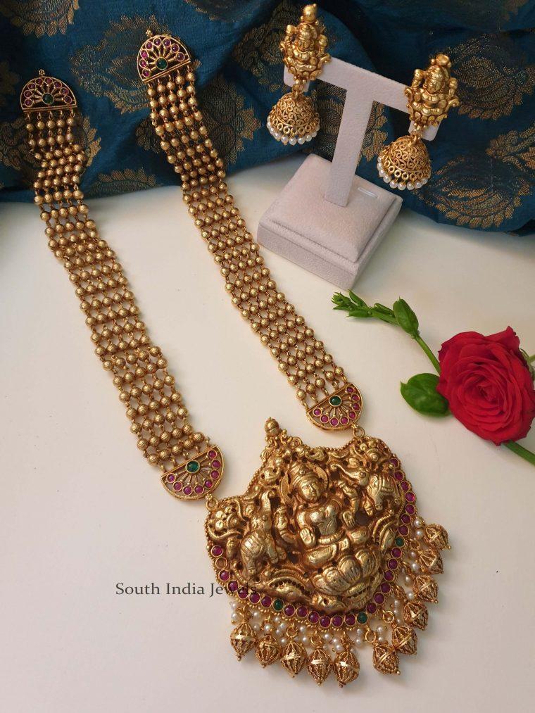 Grand Bridal Lakshmi Haram (2)