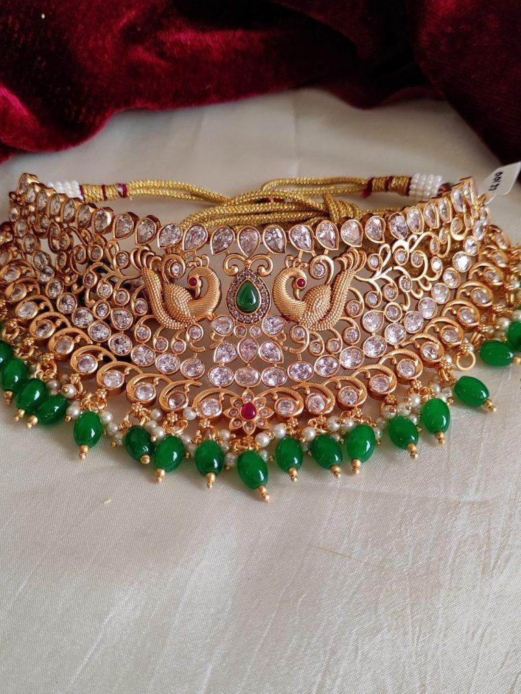 Grand Bridal Peacock Choker (3)