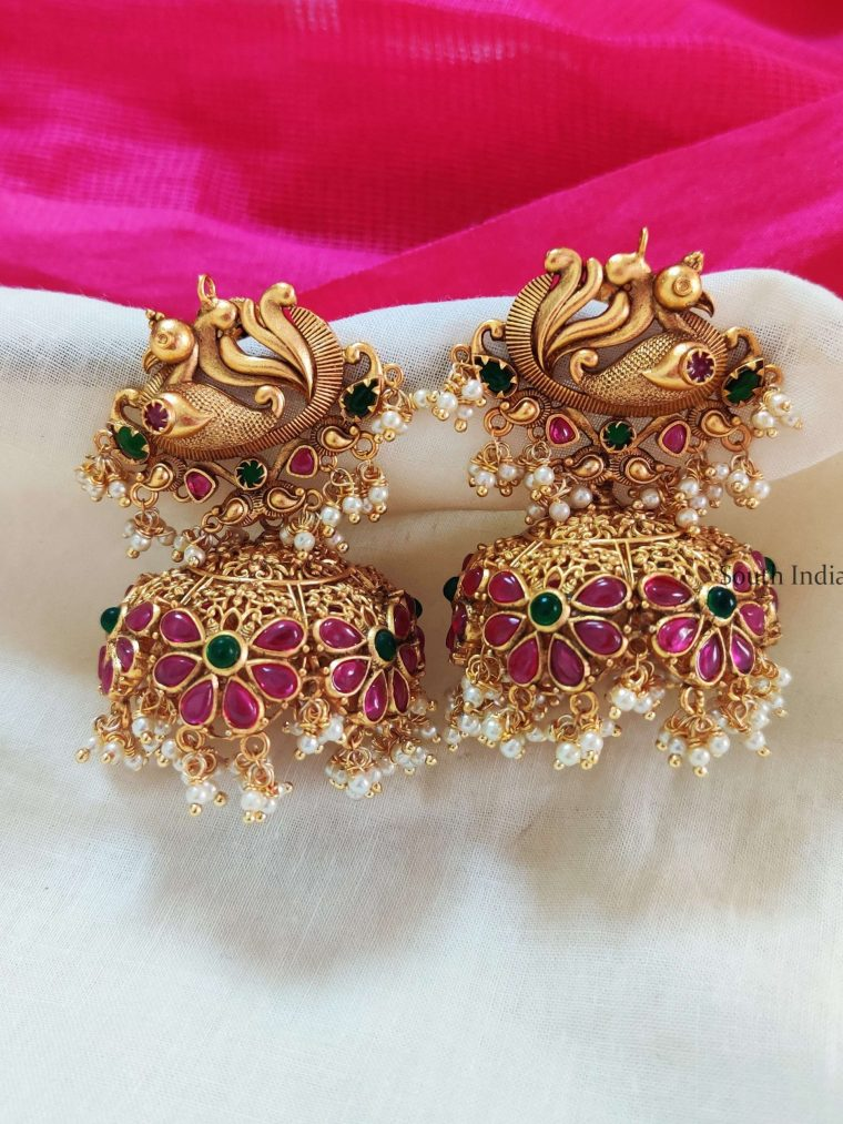 Grand Bridal Peacock Jhumka