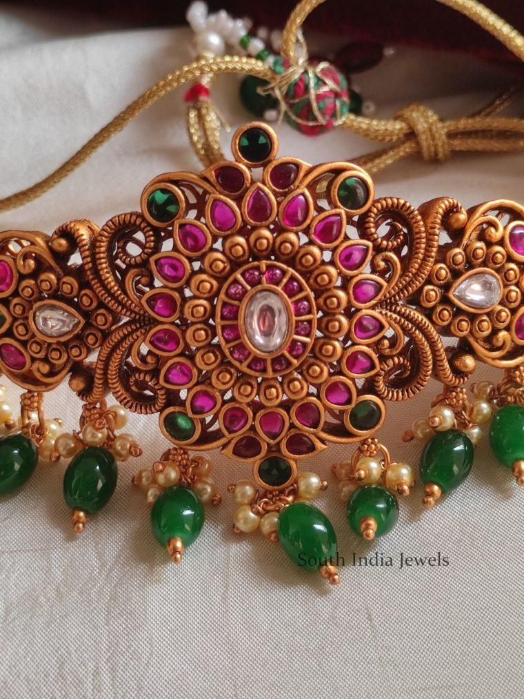 Grand Kemp Stone & Beads Choker
