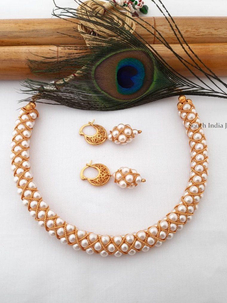 Pretty Design Pearl Choker