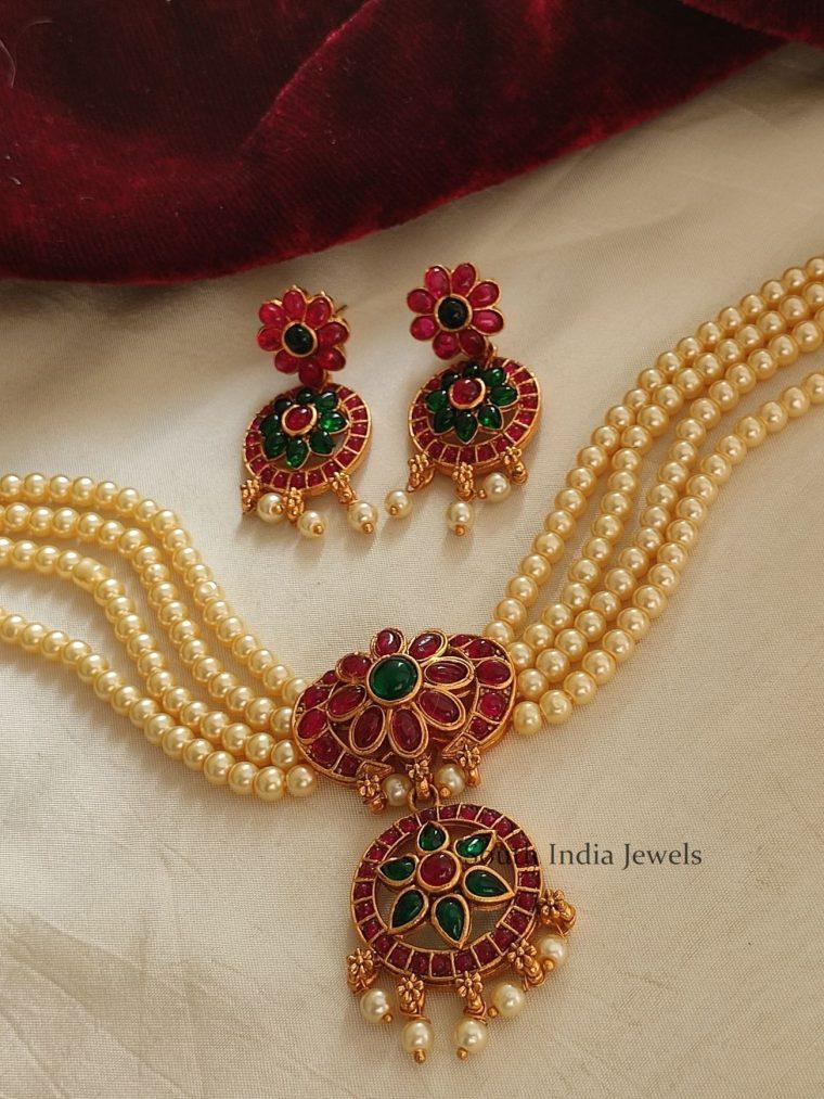Pretty Pearl & Kemp Necklace (2)