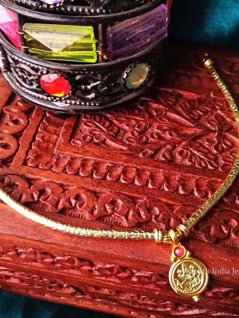 Simple & Elegant Lakshmi Coin Necklace