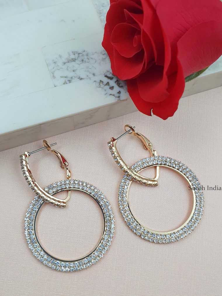 Stunning Golden Dangler Earrings (2)