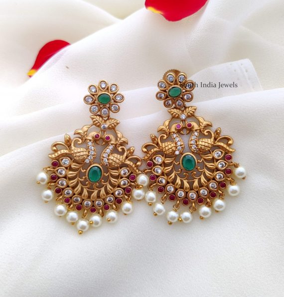 Stunning Peacock Design Earrings (2)