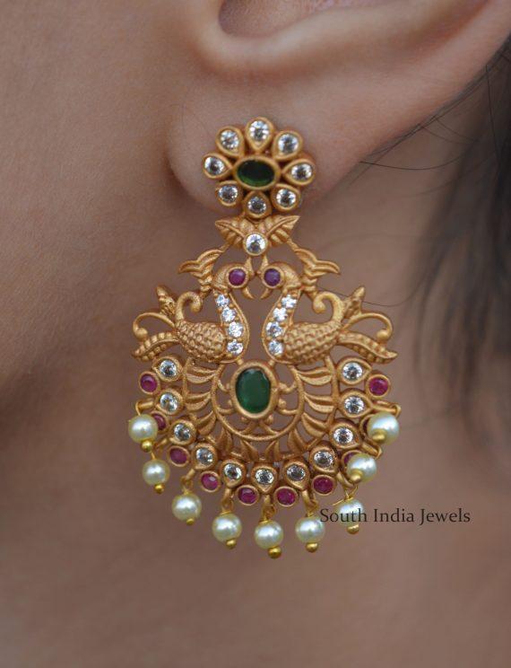 Stunning Peacock Design Earrings (3)
