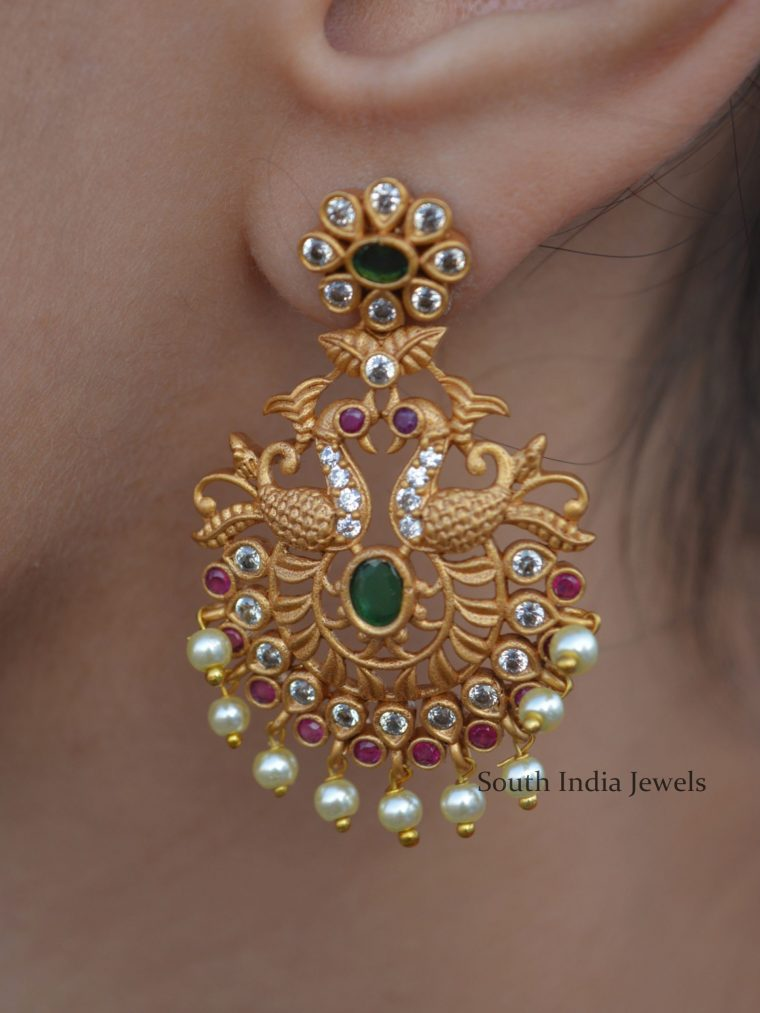 Stunning Peacock Design Earrings (3)