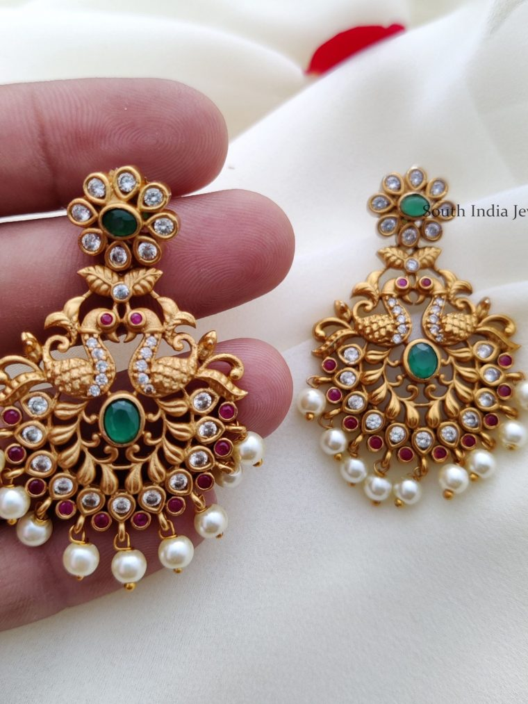 Stunning Peacock Design Earrings