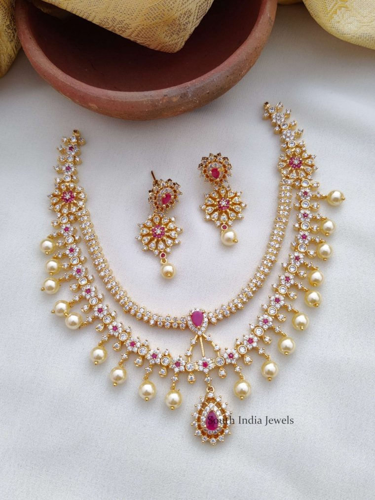 Stunning Ruby & AD Necklace (2)