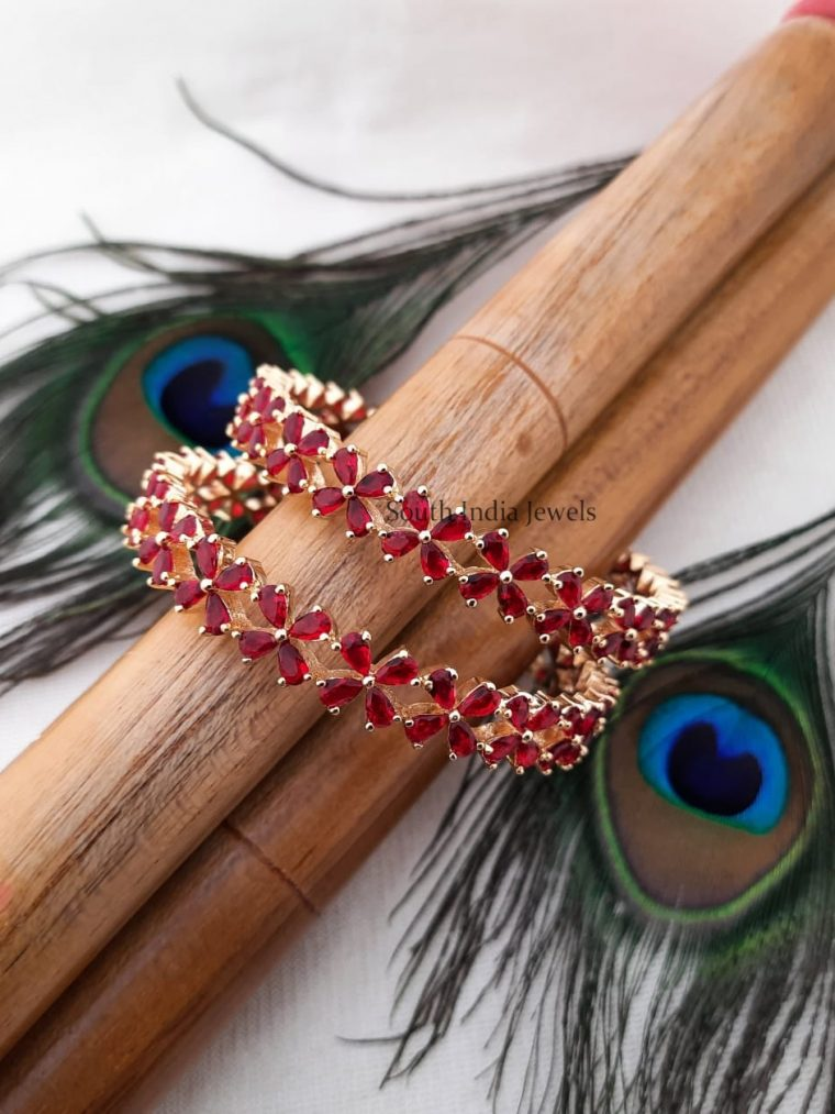 Traditional AD Red Stone Bangles
