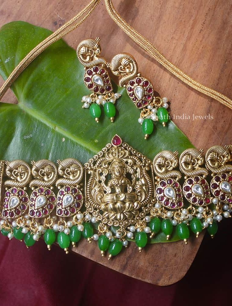 Traditional Emerald Beads High Neck Choker