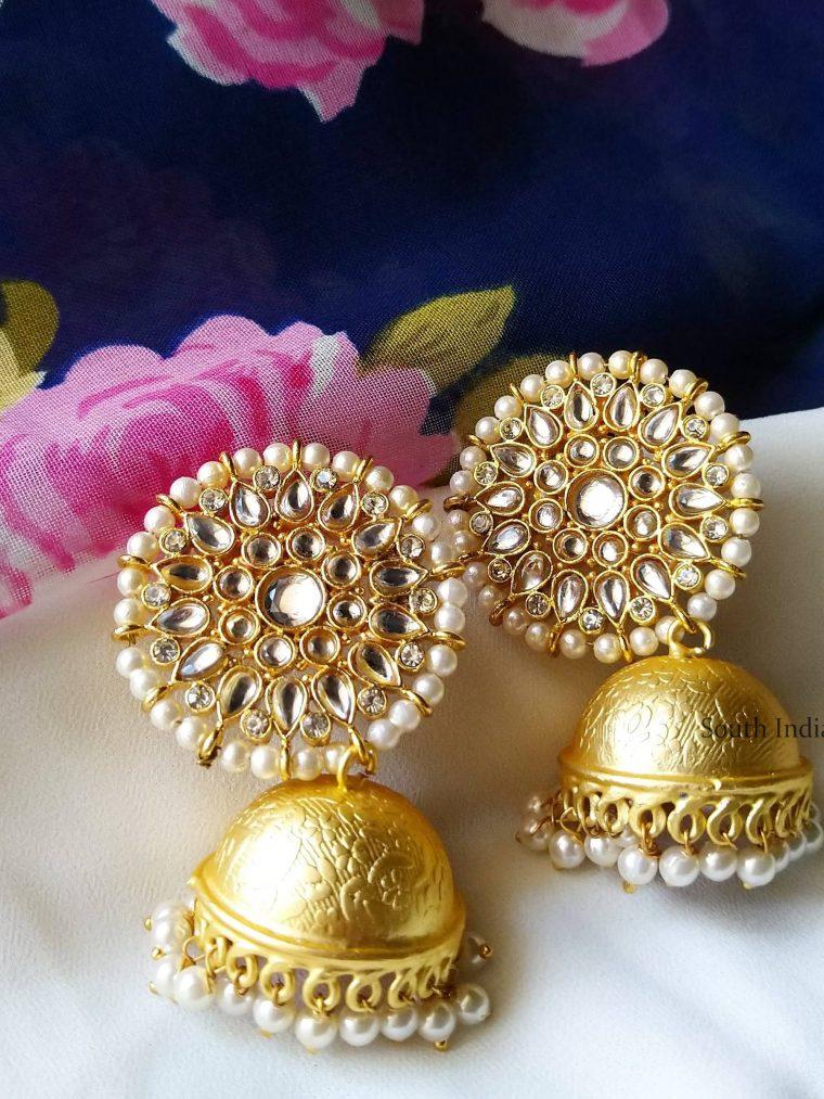 Traditional Kundhan & Pearl Jhumka