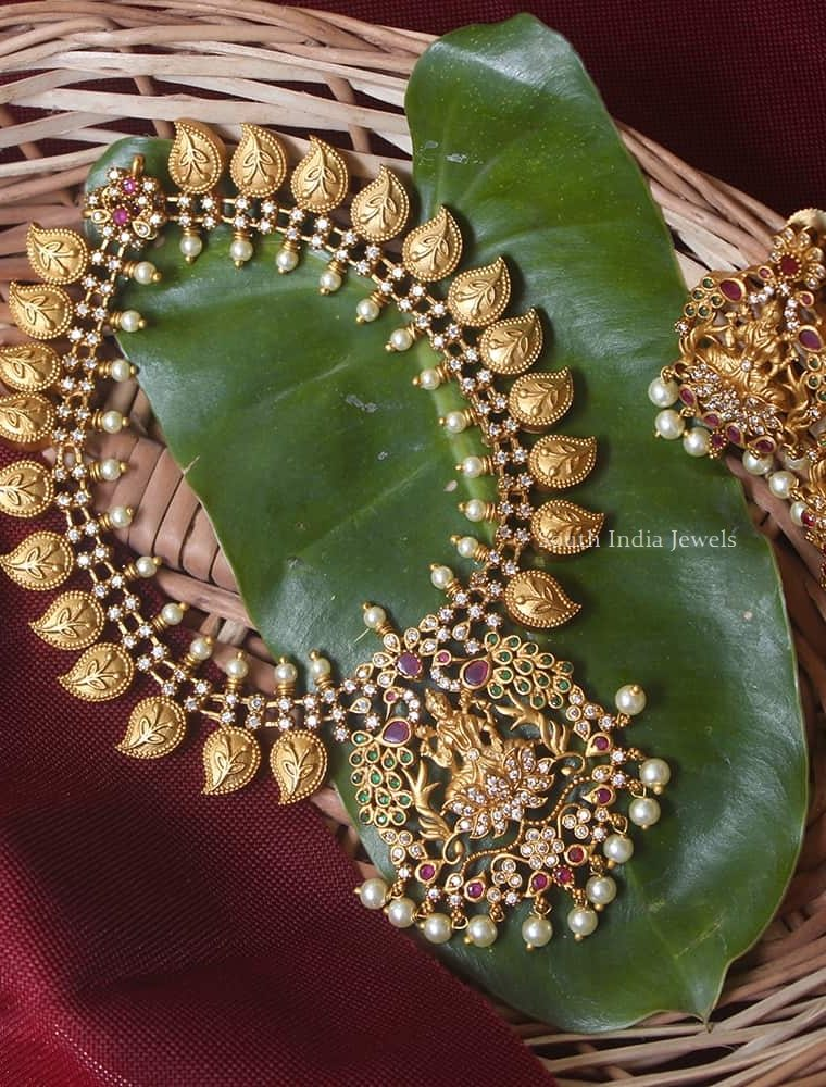 Traditional Mango Design Lakshmi Necklace