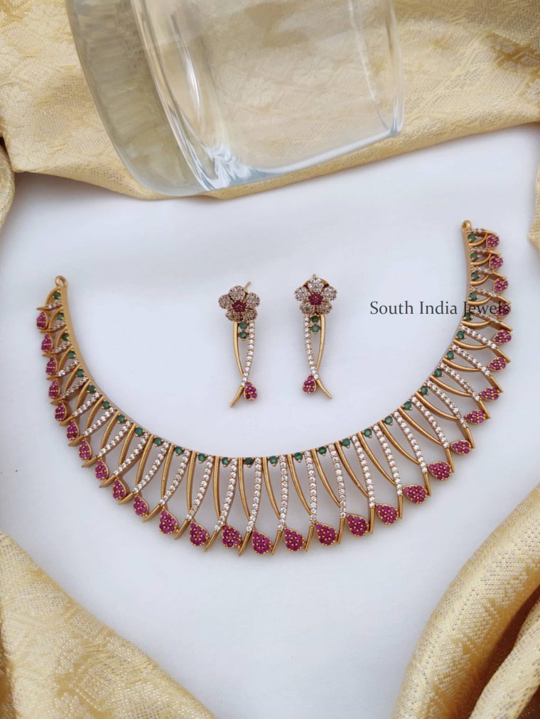 Traditional Multi Stone AD Necklace
