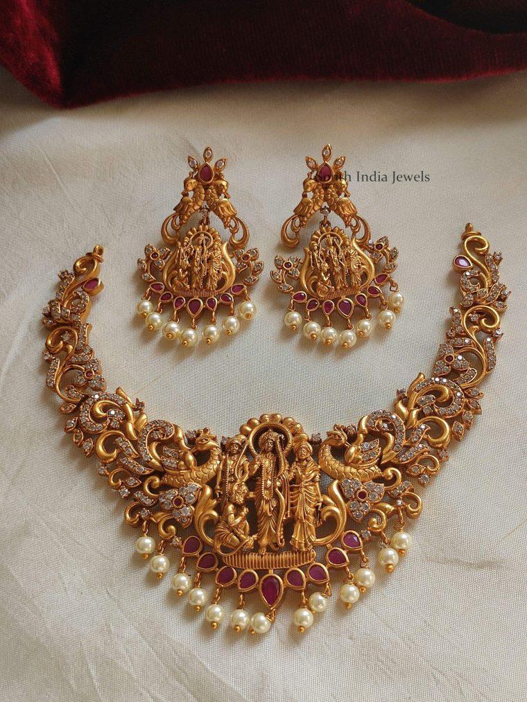 Traditional Ramparivar AD Stone Necklace
