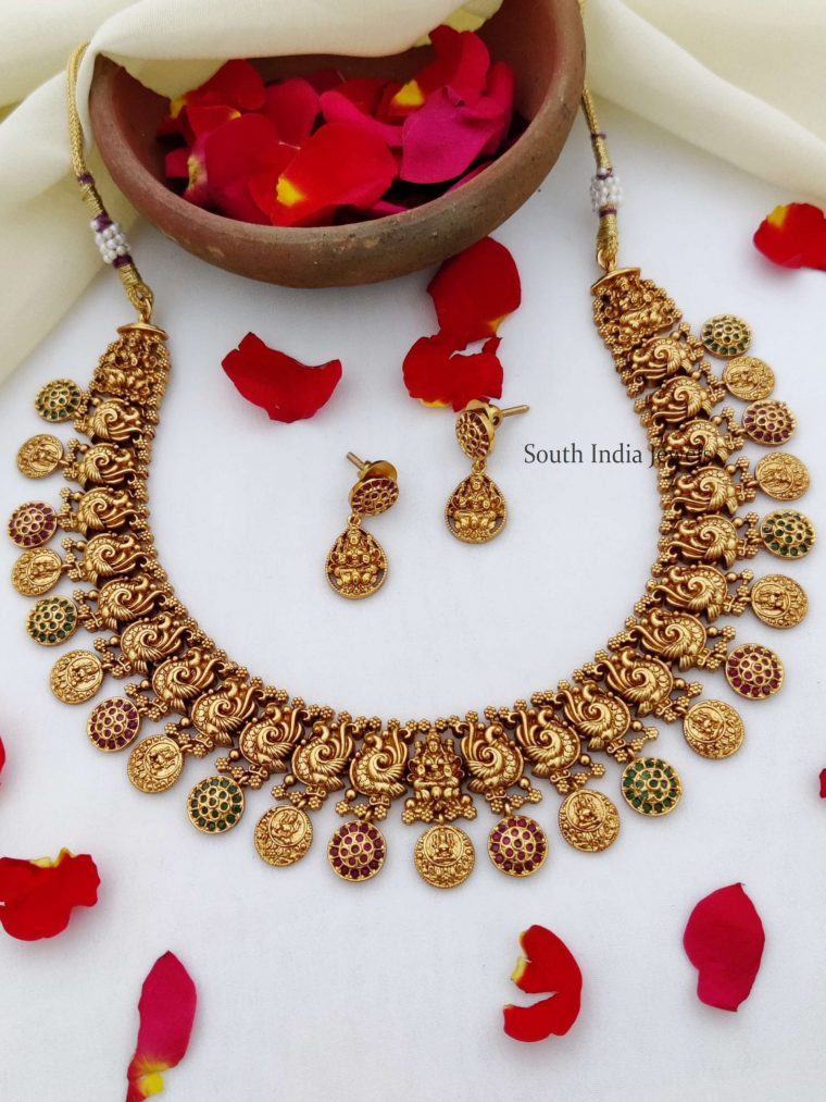 Traditional Temple Coin Necklace