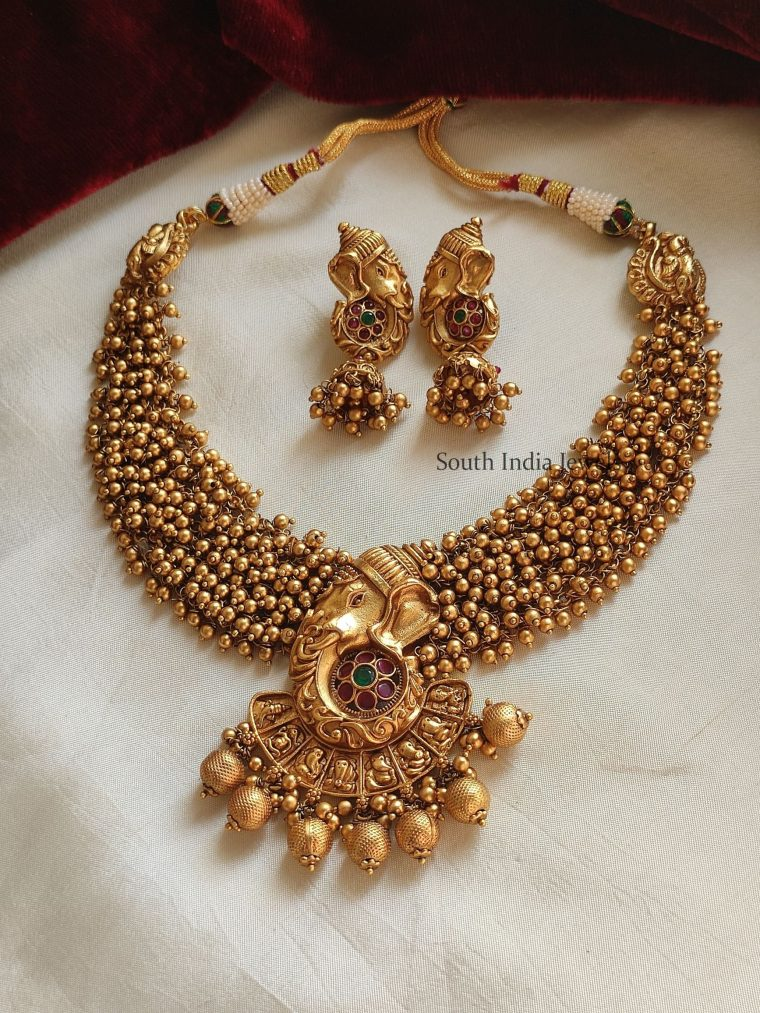 Trendy Ashtavinayaka Ghungroo Necklace
