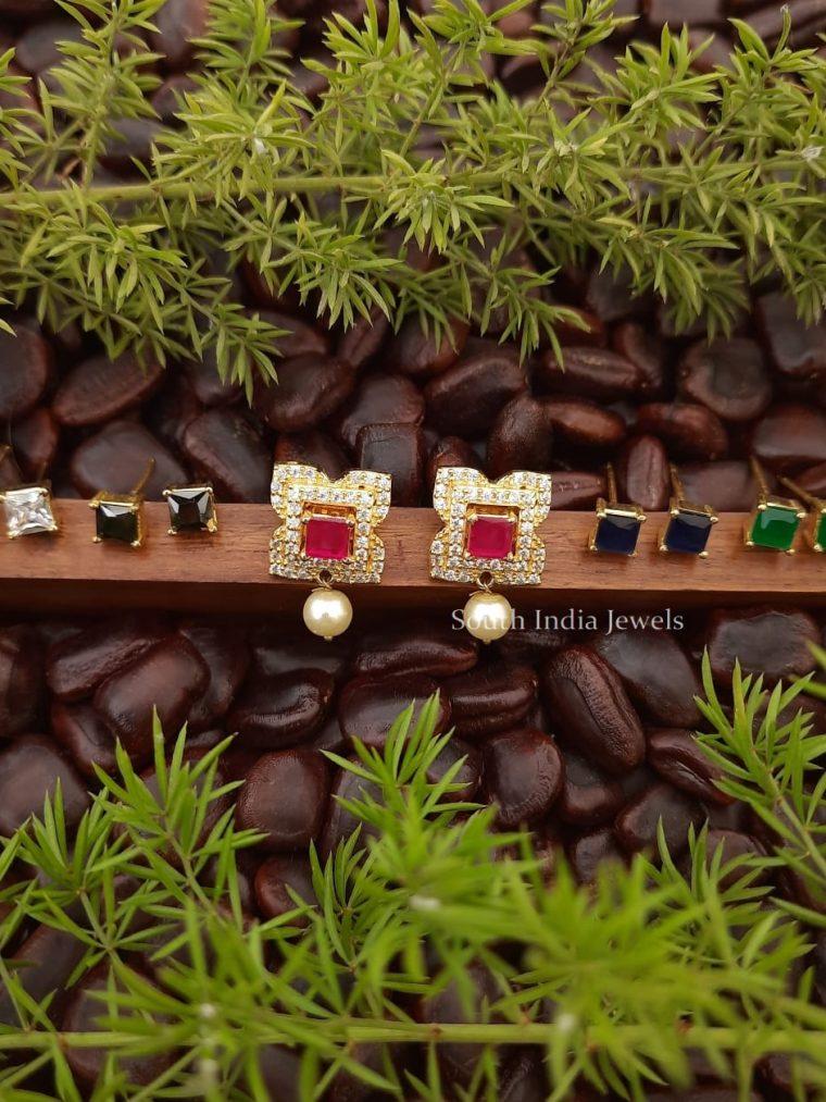 Trendy Color Changeable CZ Earrings