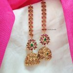 Trendy Floral Jhumka with Mattal