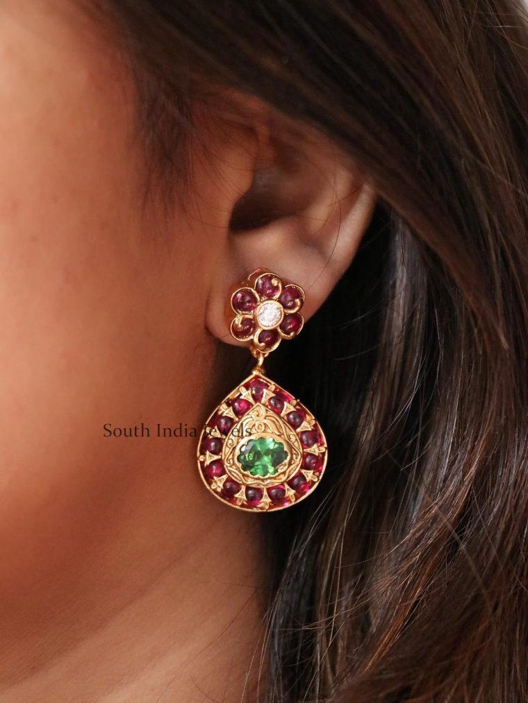 Trendy Kemp Floral Design Earrings