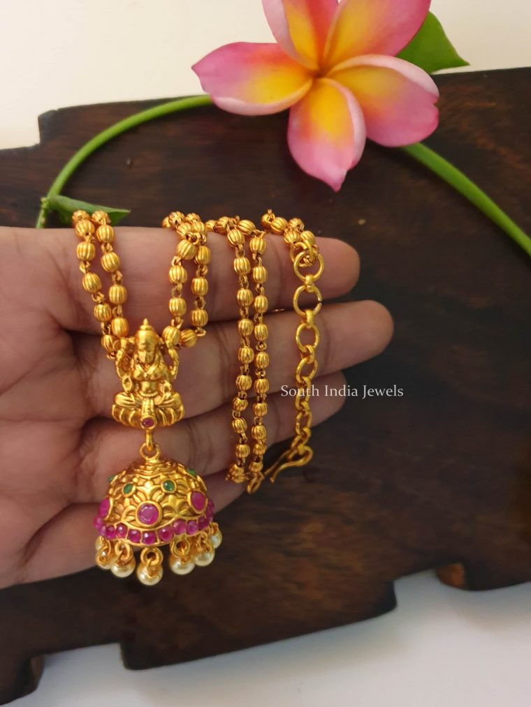 Trendy Lakshmi Jhumka Pendant Necklace