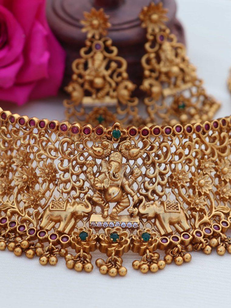 Trendy Temple Vinayaka Choker