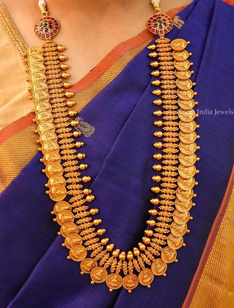 Unique Bridal Lakshmi Coin Long Haram