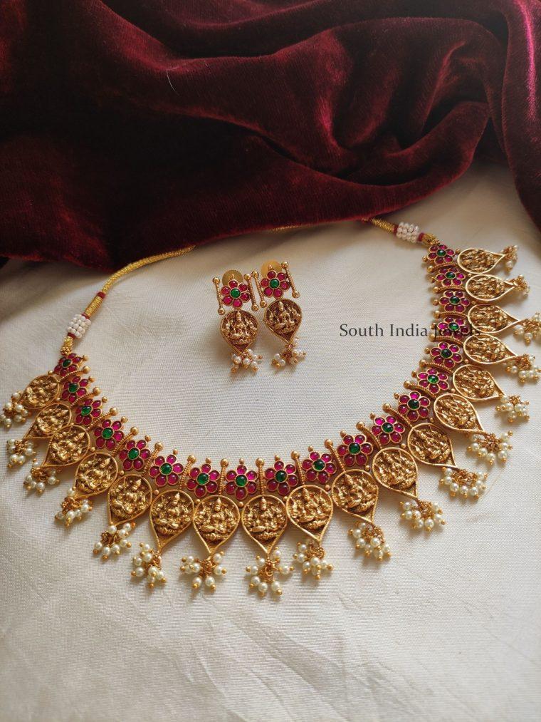 Unique Lakshmi Design Kemp Necklace