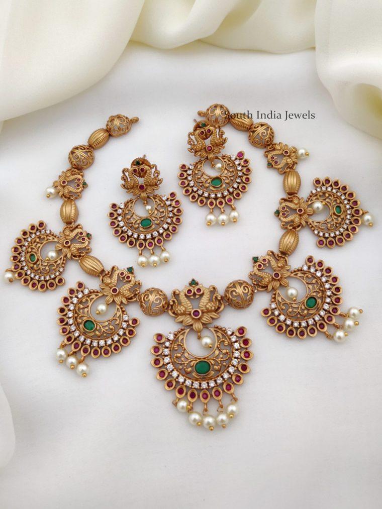 Unique Peacock AD Stone Necklace (3)