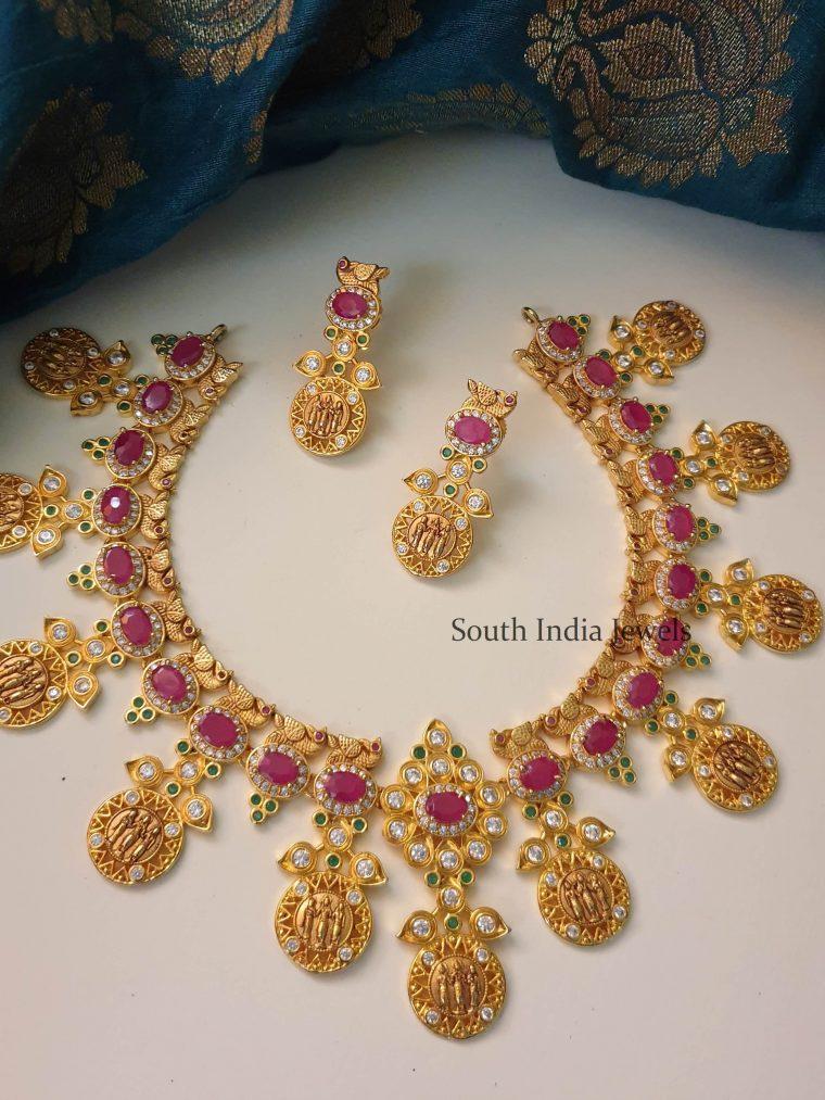 Unique Ram Parivar Design Necklace