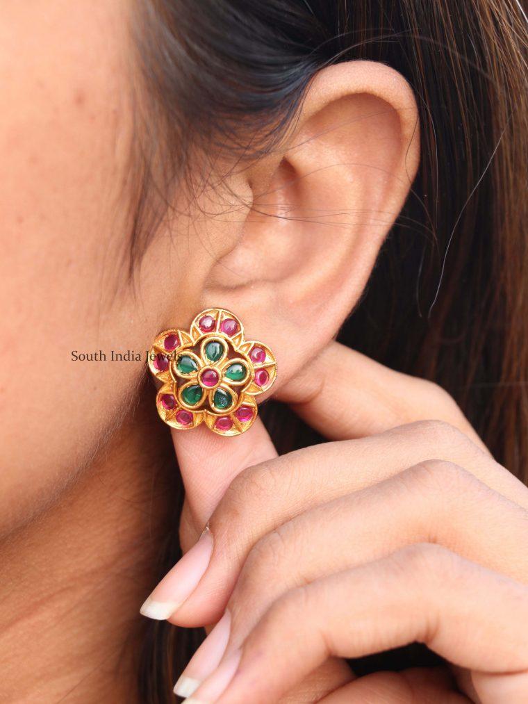 Amazing Floral Design Ear Studs