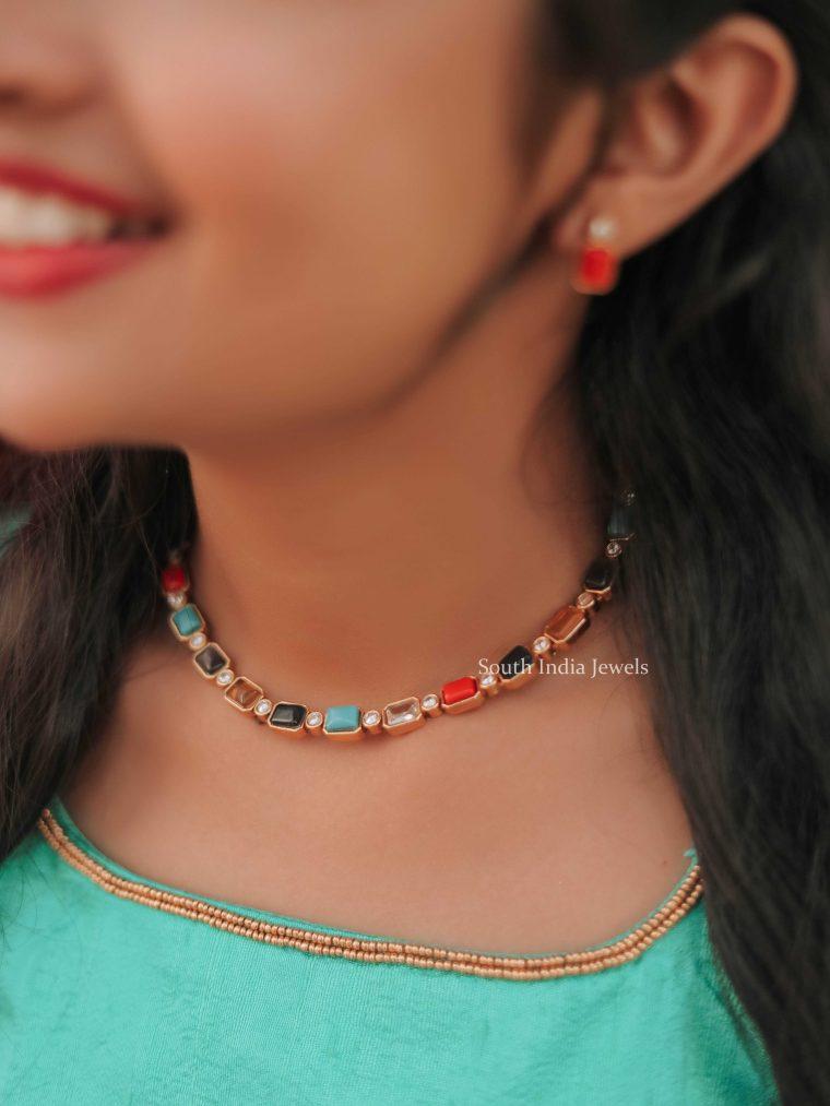 Authentic Navarathna Stones Necklace (2)