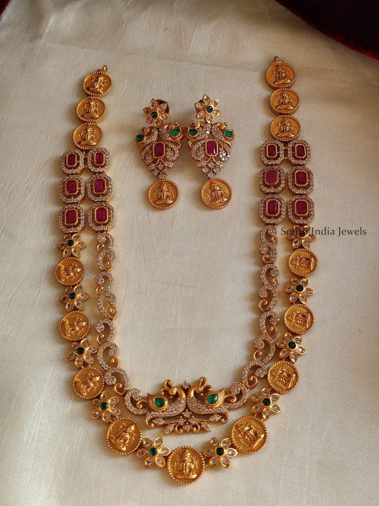 Beautiful AD Stone Emerald Necklace