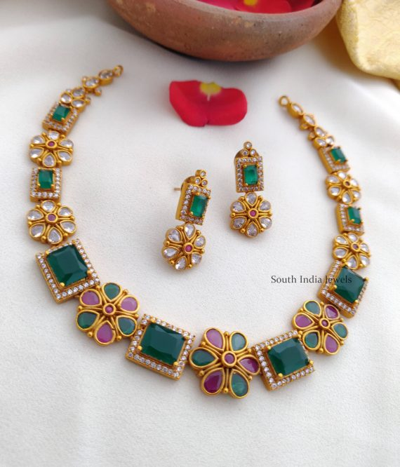 Beautiful AD Stone Necklace (2)